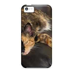 New LggVRDj7448CEshI Sleeping Kitty Tpu Cover Case For Iphone 5c