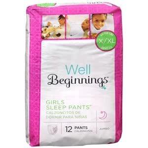 Well Beginnings Youth Sleep Pants Girl, Large/X-Large 12 ea