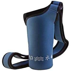 NEOSLING, Adjustable Neoprene Bottle Holder, Steel Blue