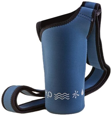 NEOSLING, Adjustable Neoprene Bottle Holder, Steel - Water Carrier Blue
