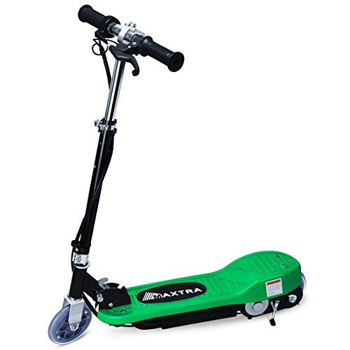 Maxtra E100 Electric Scooter l60lb Max Weight Capacity Motorized Scooters Bike Green - up to 12mph