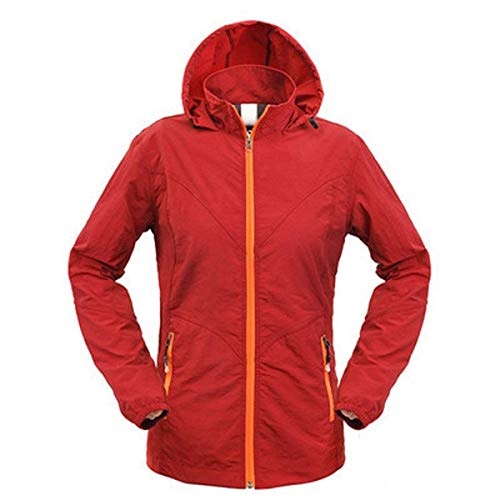 Quick Outdoor Da Size Trekking Uv Donna Dry Chic Protezione Red Cappuccio 2 Uomo Nner Giacche Antivento Sport rose 3xl Summer Sun Plus color Giacca Con 65w5g7qxU
