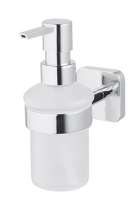 Bisk Forte Gama fácil Ajuste Tornillos o Pegamento líquido dispensador de jabón, Zinc Aluminio y