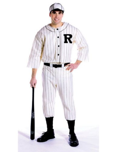 Baseball Halloween Game Costumes (Old Tyme Baseball Player Adult Costume - One Size)