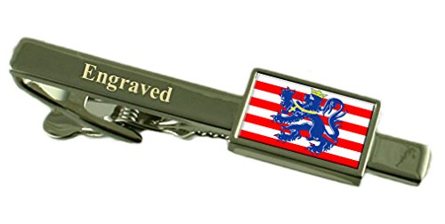 Bruges City Belgium Flag Tie Clip Engraved in Pouch