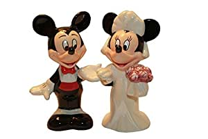 Mickey and Minnie Wedding Salt and Pepper Shaker, 4 inches tall