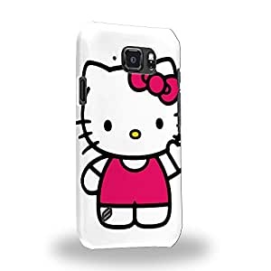 Case88 Premium Designs Hello Kitty Collection 0623 Carcasa/Funda dura para el Samsung Galaxy S6 Active