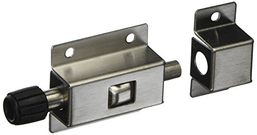 Stainless Steel Spring Loaded Push Button 7cm Long Gate Door Latch Bolt
