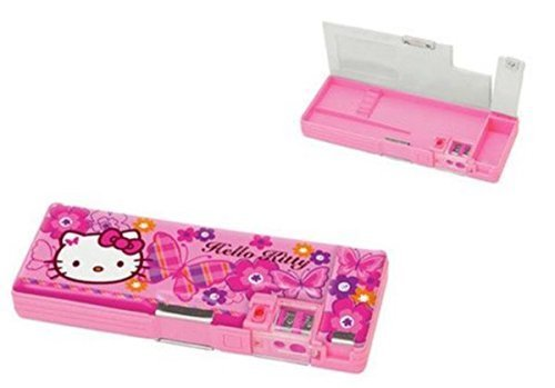 Hello Kitty Deluxe Retro Mechanical Pencil Case: Butterfly
