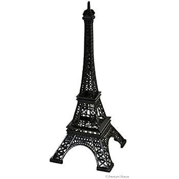 10 Black Metal Eiffel Tower Figurine Paris Decor Statue French Home Decor