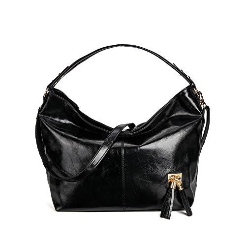 KAMIERFA Handbags for Women Hobo Bags Designer Collection Large Capacity Shoulder Bag Black