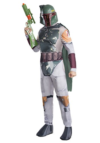 Star Wars Boba Fett Adult Costumes (Rubie's Costume Co Men's Star Wars Classic Boba Fett Costume, Multi, Standard)