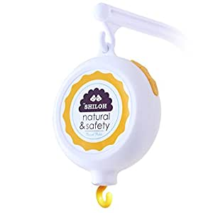 Shiloh Baby Musical Mobile Battery-Operated 60 Tune Lullabies, White