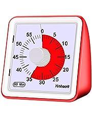 Yunbaoit Temporizador analógico visual, reloj de cuenta regresiva silencioso, herramienta de gestión de tiempo para niños y adultos