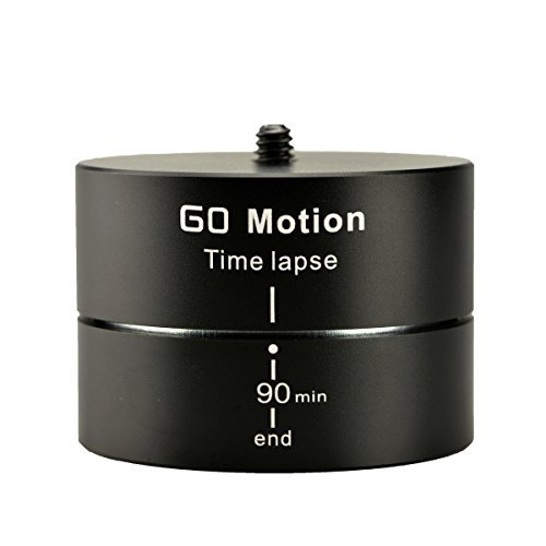 (Gemtune Go Motion LT-002 Panoramic Head 360° 90 Minutes Rotating Tripod Time Lapse Stabilizer for GoPro Hero 1/2/3/4,Smartphones and Interchangeable Lens Digital Cameras)