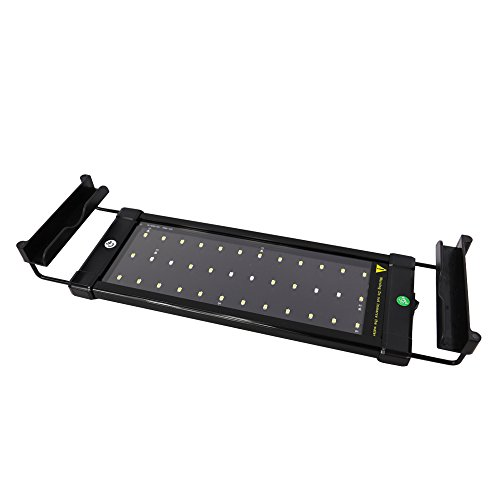 10 Gallon Lighting - IDEALUX Aquarium lights - LED Aquarium Light - Fish Tank Light Extendable Brackets - White Blue LEDs (40A=11