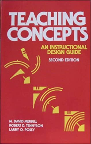 Teaching Concepts An Instructional Design Guide Merrill M David Tennyson Robert D Posey Larry O 9780877782476 Amazon Com Books