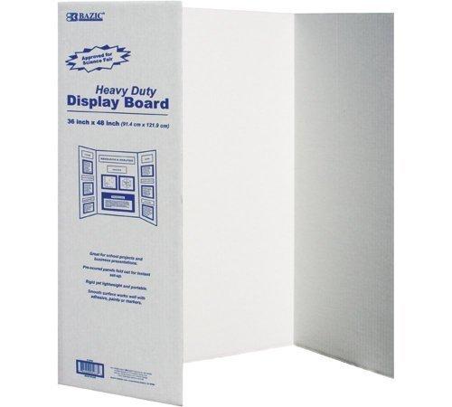 BAZIC Tri-Fold Corrugated Presentation Board, 36 x 48 Inch (2-Pack)