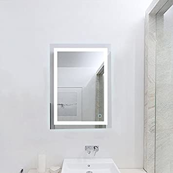 Wefun Badspiegel mit Beleuchtung,Badezimmerspiegel mit Beleuchtung ...