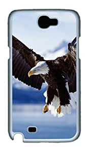 Samsung Galaxy Note 2 Case and Cover- Bald Eagle In Flight Alaska PC Case for Samsung Galaxy Note 2 / Note II / N7100 White hjbrhga1544