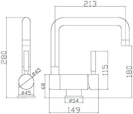 aqualy/®/ /Robinet pour /évier rabattable chrom/é