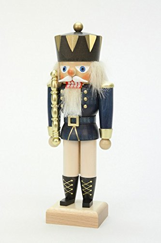 German Christmas Nutcracker King Blue - 27cm / 11 inch - Christian Ulbricht