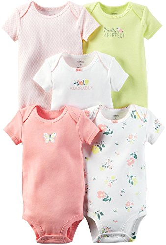 Carter's Baby Girls Multi-Pack Bodysuits, Assorted, Preemie