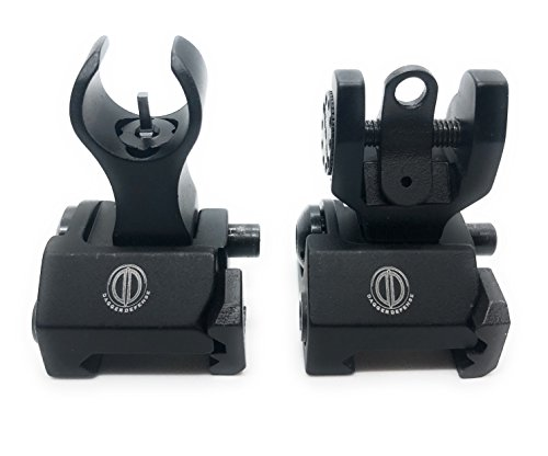 DD DAGGER DEFENSE Dagger Defense crescent shaped BUIS back up iron sights for co-witness