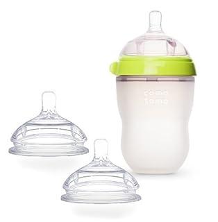 Comotomo Natural Feel Bundle - 2 Items: Green 8 oz Baby Bottle, Extra Pack Medium Flow Nipples (B00A4QW3FU) | Amazon price tracker / tracking, Amazon price history charts, Amazon price watches, Amazon price drop alerts