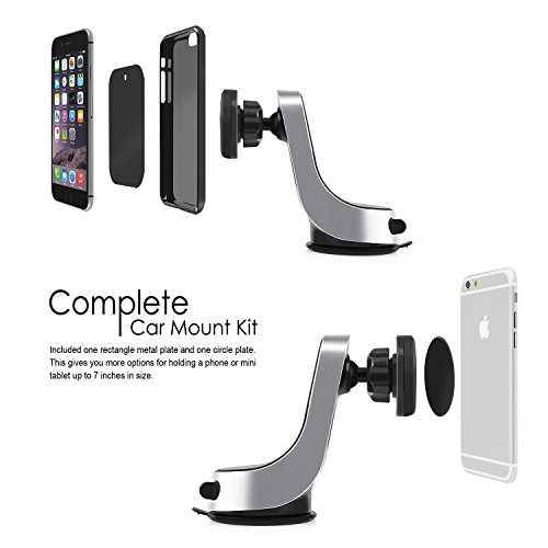 Magnetic-Car-Mount-Insten-Easy-to-Install-on-DashboardWindshield-360-Rotation-Swivel-Phone-Holder-Cradle-W-Suction-Cup-For-iPhone-77-Plus6S-PlusGalaxy-S7-Edge-Mini-TabletsBlackSilver