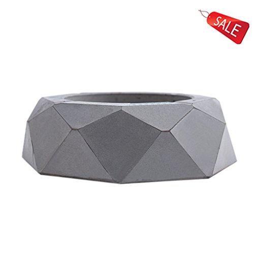 Cenicero geométrico del cemento de la vendimia poligonal con la mesa de centro de la sala de estar los 12 * 4cm (5 * 2...