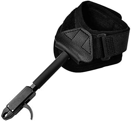 Black Wrist Strap Cord Rotatable Hand Release Aid Compound Bow Caliper Archery