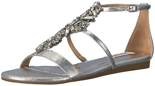 Badgley Mischka Sandal Silver Women's Barstow Flat rnFwdArq8