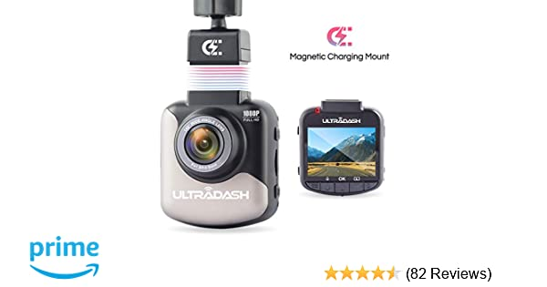 Dash Cam, UltraDash Full HD 1080P@30fps, Magnetic Charging Mount, HDR  High-end Night Image Sensor, 6 Layers Glass F1 8 140 Degree Wide Angle  Lens,