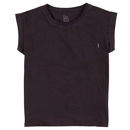 Cleptomanicx Damen T-Shirt Holiday schwarz