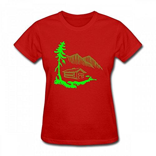 For qingdaodeyangguo Shirt Design Alps Women T Shirt Landscape PnOnx8Uq