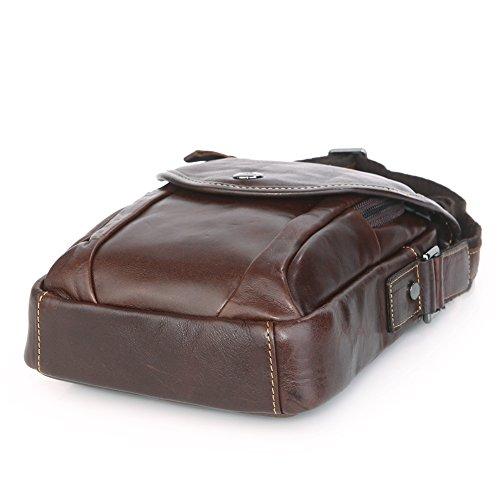 Genda 2Archer Mini Bolso de Hombro de Cuero, Teléfono / la Carpeta / Titular de Cigarrillos Marrón (Tamaño A) Tamaño A