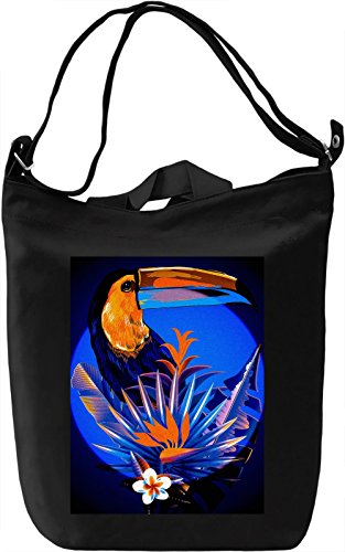 Colourful Toucan Borsa Giornaliera Canvas Canvas Day Bag| 100% Premium Cotton Canvas| DTG Printing|