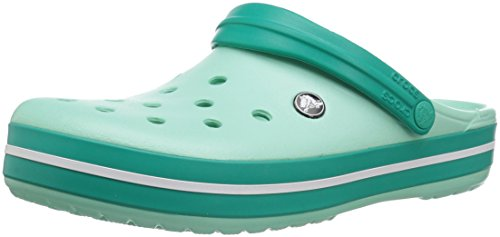 Crocs Unisex-Adult Crocband Clog, New Mint/Tropical Teal, 7 US Men / 9 US Women by Crocs