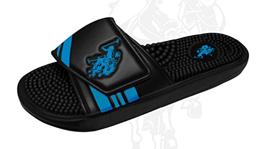 Ons Polo Assn. Heren Premium Instelbare Boven Slide Sandaal Flip Flop Blauw-zwart