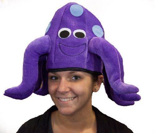 Jacobson Hat Company Women's Velvet Octopus Hat, Purple, (Octopus Costume For Adults)