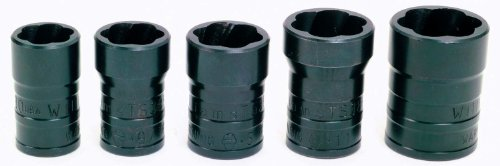 Williams TSFS5005 5-Piece Turbo Socket Salvage Socket Set (Turbosocket Set)