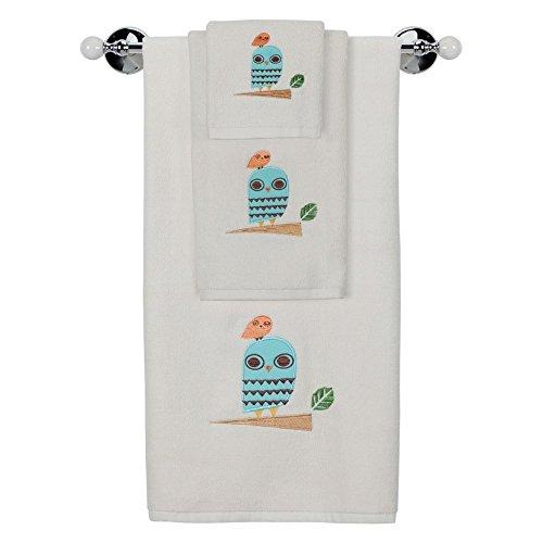 Creative Bath Give a Hoot 100% Cotton Bath Towel Set (Owl Towels Bath)