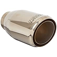 "Pilot Motorsports PM-561 Stainless Steel Weld-On Exhaust Tip, Slanted Double Layer, 4"" Outlet"