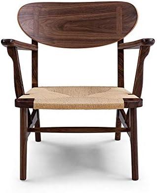 ソファ・カウチ ベッドルームのソファ椅子、チェアカバーシート用手作りのレトロな木製のラウンジチェア リビングルーム家具 (Color : Brown, Size : 700X620X650MM)
