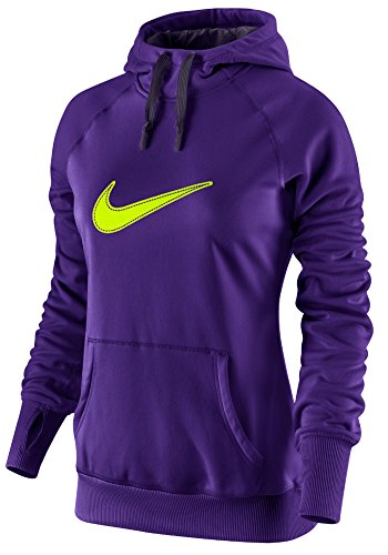 Womens Nike Swoosh Out All Time Hoody Electro Purple/Purple Dynasty/Volt Size X-Small