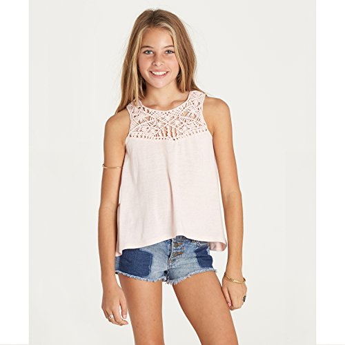 Billabong Girls Tank Top (Billabong Girls' Girls' Second Look Top Shell Pink Large)