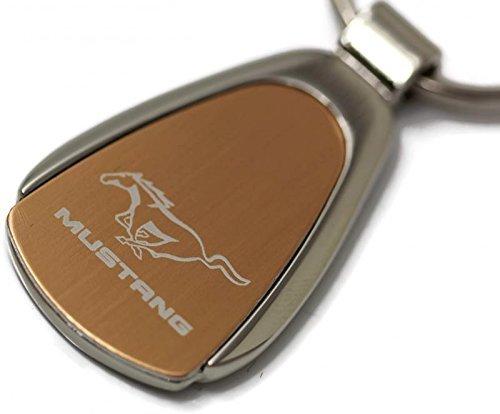 DanteGTS Ford Mustang Logo Gold Tear Drop Key Chain