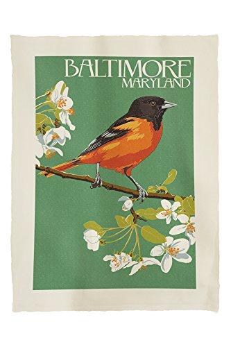 Baltimore, Maryland -Oriole Letterpress 45306 (60x80 Poly Fleece Thick Plush Blanket)