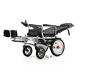2018 Black New Comfy Go Remote Control Heavy Duty Handbrake Lithium Battery Electric Power Wheelchair by Buvan Corp, Inc